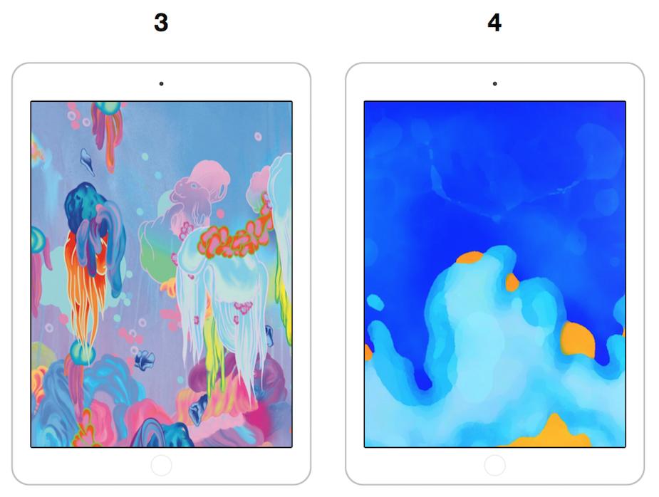 """9,7"""" iPad 2018 tapety"""