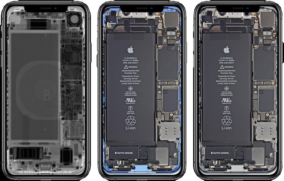 Wnętrze iPhone'a XR