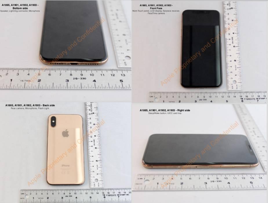 miedziany iPhone X na stronie FCC