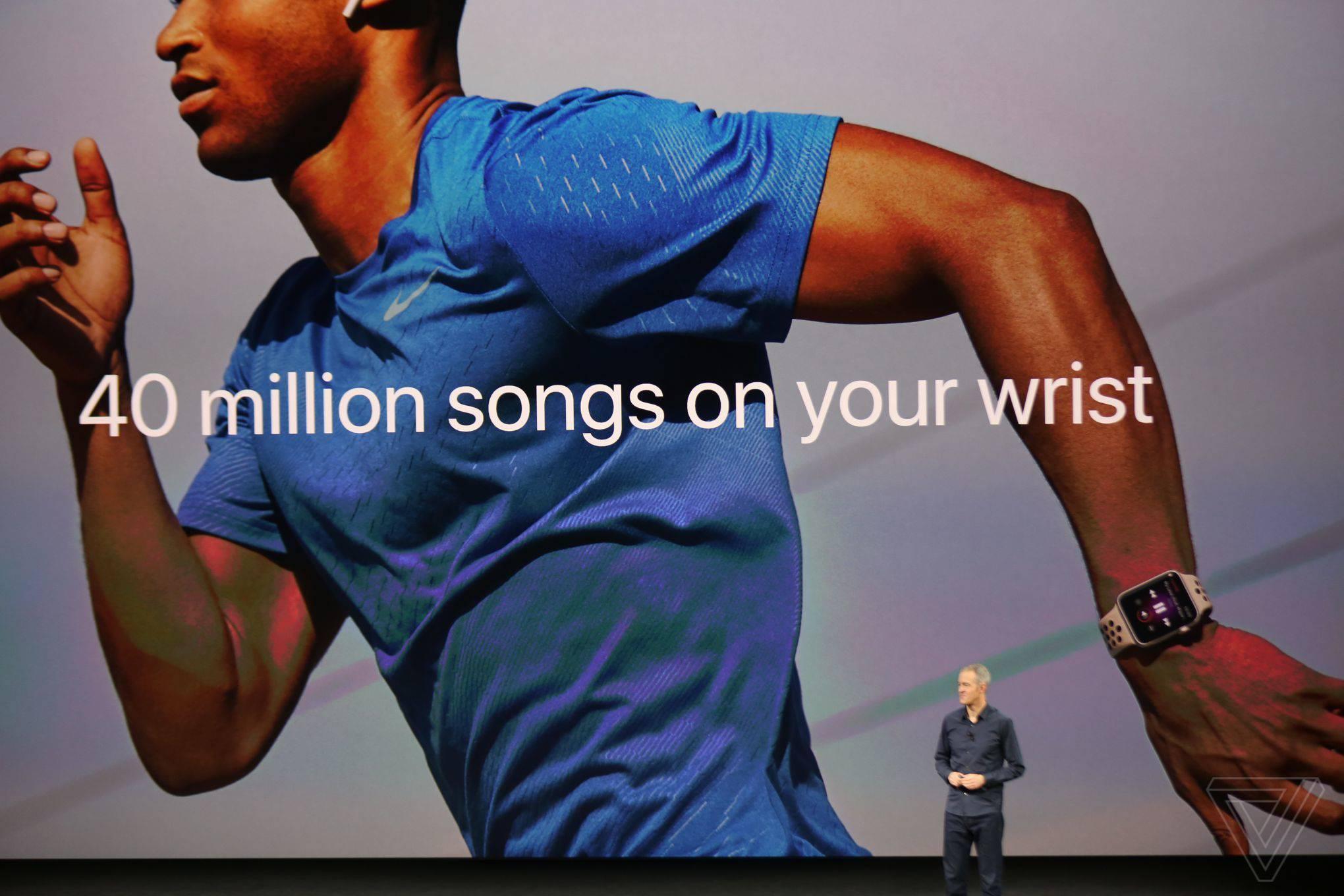 Apple Watch 3 z Apple Music