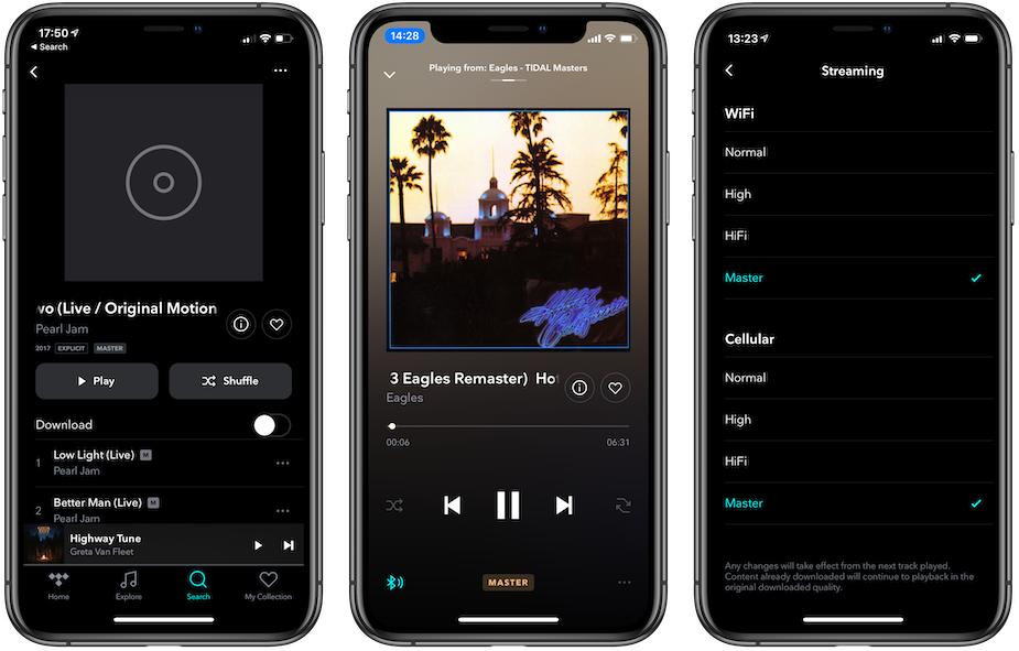 Tidal MQA dla iOS