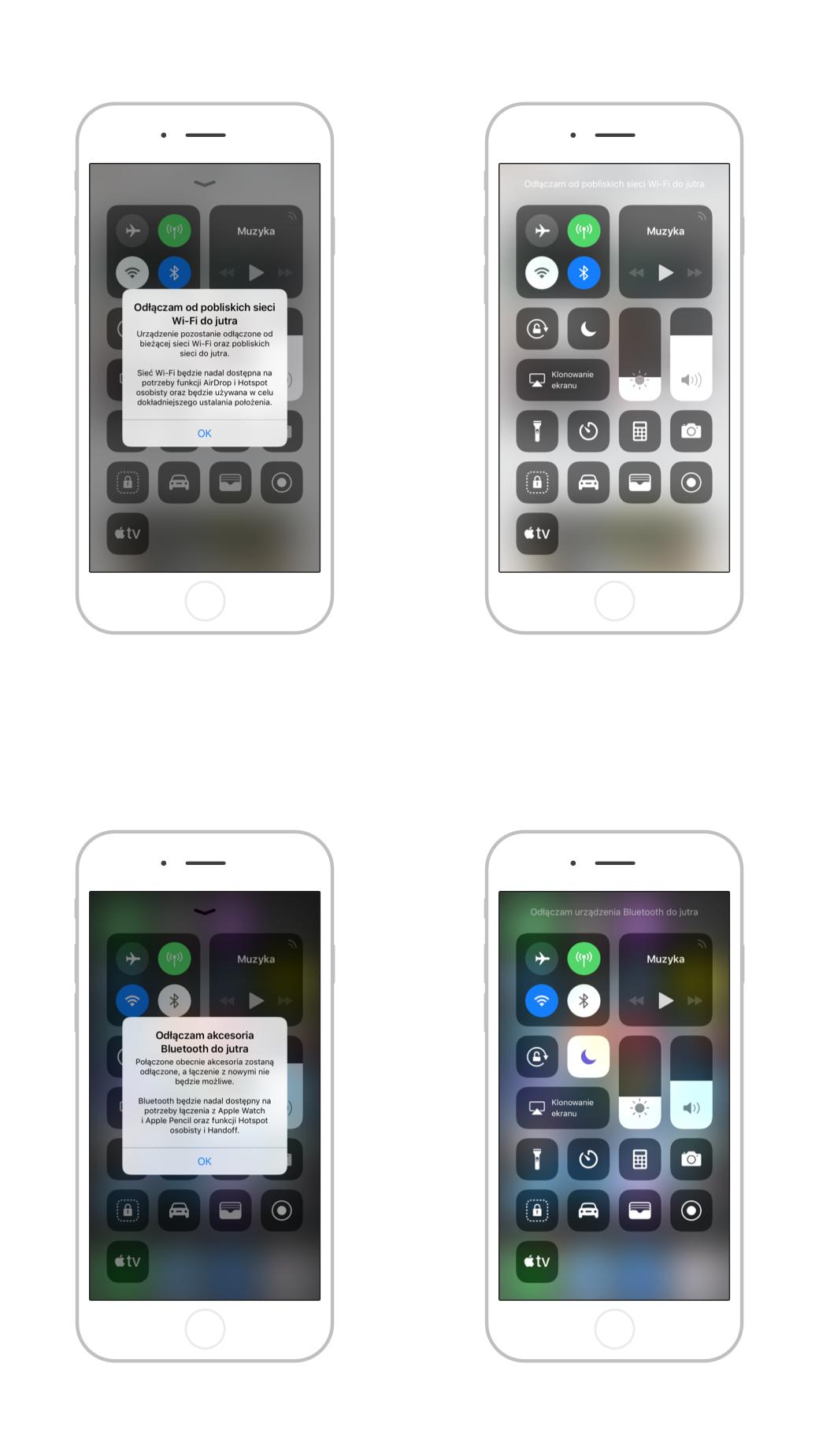 iOS 11.2 zmiana w przełączniku