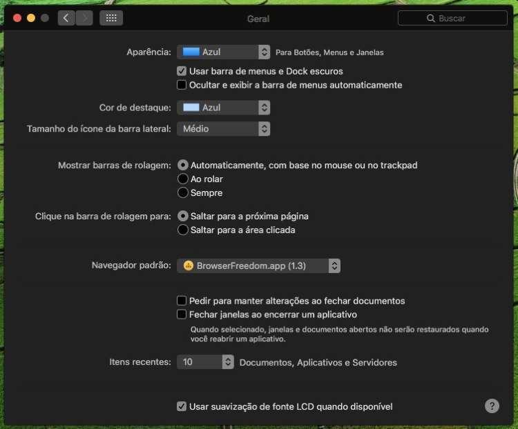 macOS Sierra dark mode
