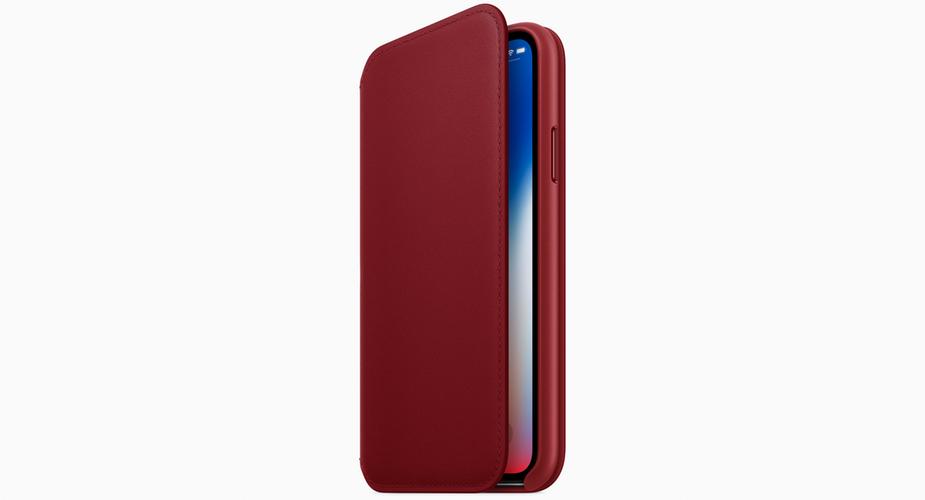 Etui folio iPhone X PRODUCT(RED)