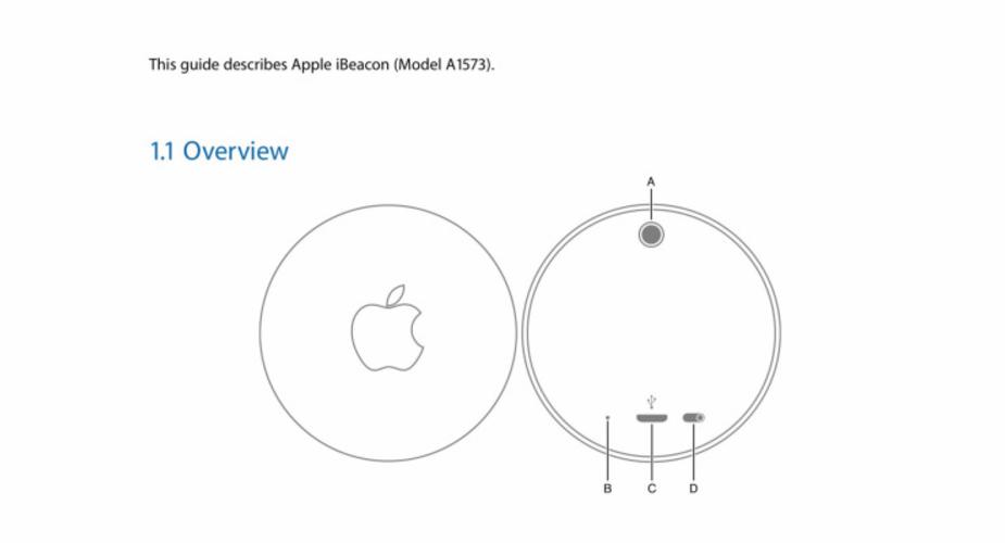 Urządzenie iBeacon od Apple na pierwszych zdjęciach i grafikach