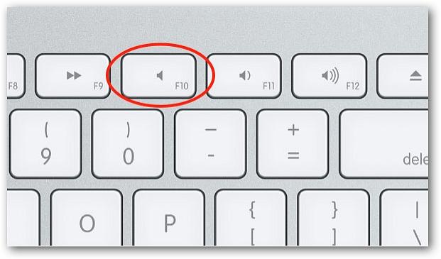 Mac przycisk mute