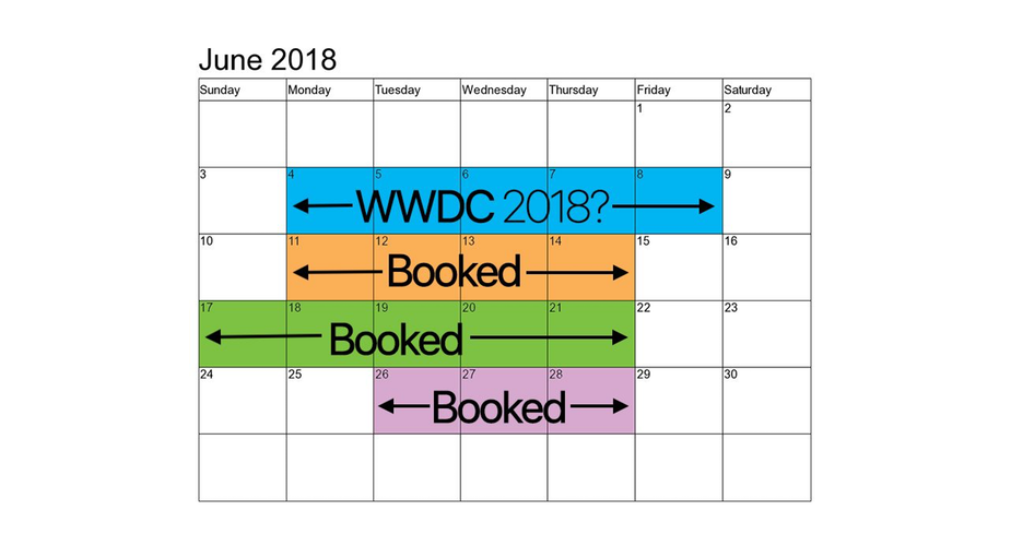 WWDC 2018 kalendarz