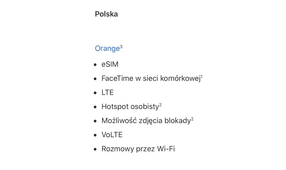 eSIM w Orange