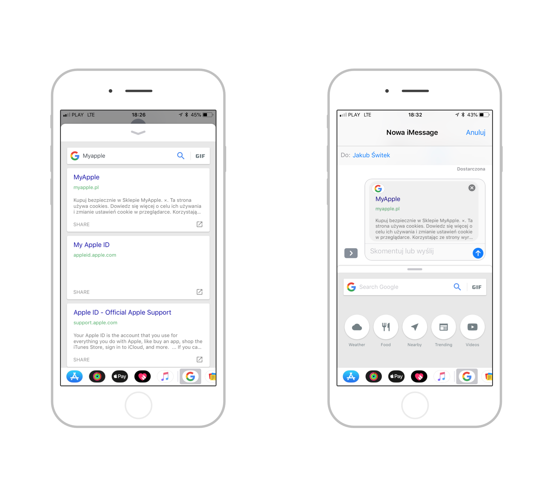 Google iOS iMessage
