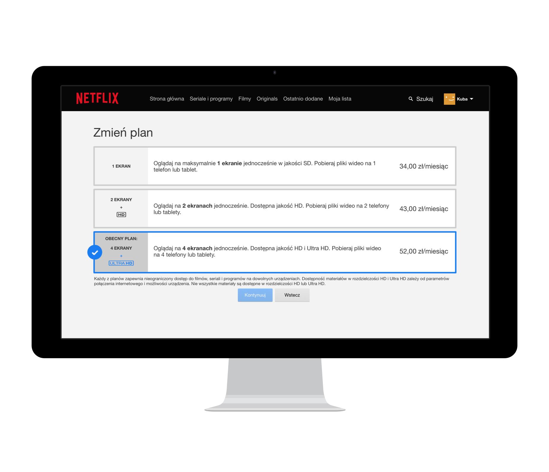 Netflix WWW ceny