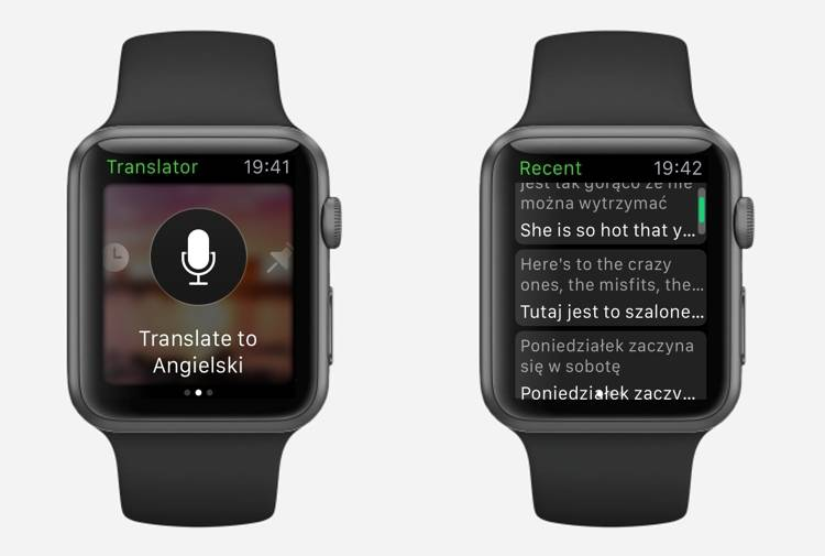 Microsoft Translator Apple Watch